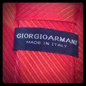 Giorgio Armani 8cm Striped Silk-Jacquard Tie